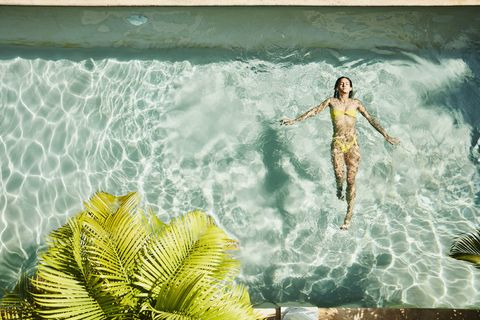 Fluid, People in nature, Wave, Ocean, Sea, Waist, Terrestrial plant, Wind wave, Tropics, Illustration,