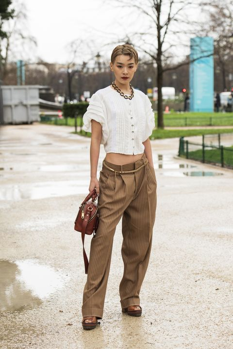 paris, france   february 27 model chiaki hataeyama wears chloe on february 27, 2020 in paris, france photo by kirstin sinclairgetty images