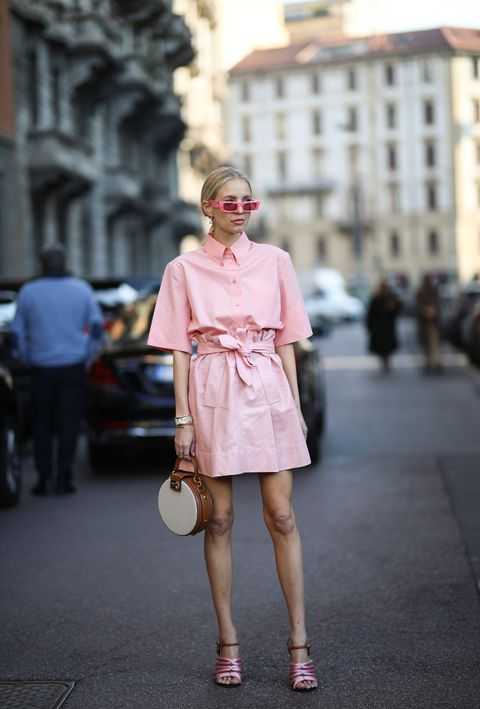 milan, italy   february 22 leonie hanne is seen wearing a gucci sunglasses and hair clip and a rosa hair clip before salvatore ferragamo during milan fashion week fallwinter 2020 2021 on february 22, 2020 in milan, italy photo by jeremy moellergetty images