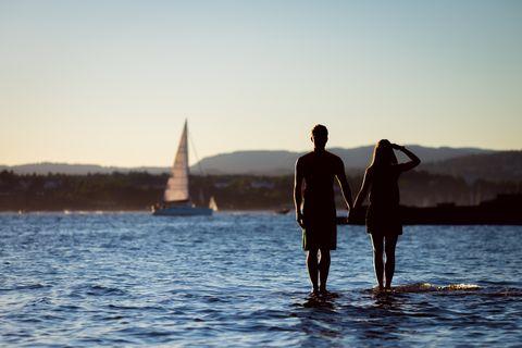 Water, Sky, Horizon, Sea, Fun, Standing, Vacation, Sailing, Summer, Ocean,