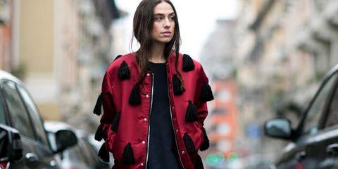 Jacket, Outerwear, Coat, Street, Street fashion, Collar, Winter, Vehicle door, Bag, Automotive mirror,