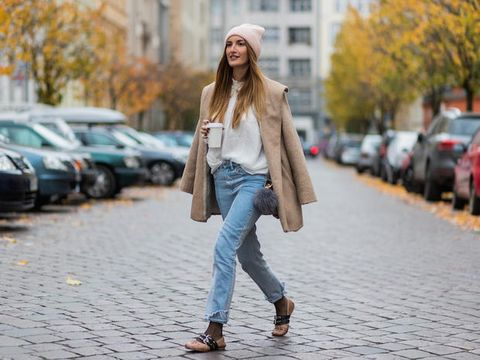 Clothing, Trousers, Denim, Jeans, Textile, Photograph, Street, Outerwear, Road surface, Street fashion,