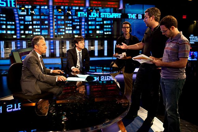 behind the scenes with jon stewart of the daily show