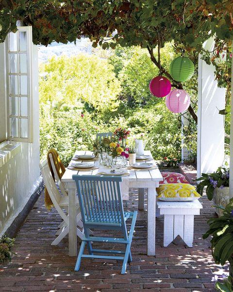 comedor en el porche