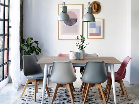 Dining room, Furniture, Room, Table, Interior design, Chair, Windsor chair, Material property, Kitchen & dining room table, Floor,