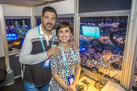 Tony Aguilar y Julia Valera, comentaristas de 'Eurovision 2019'