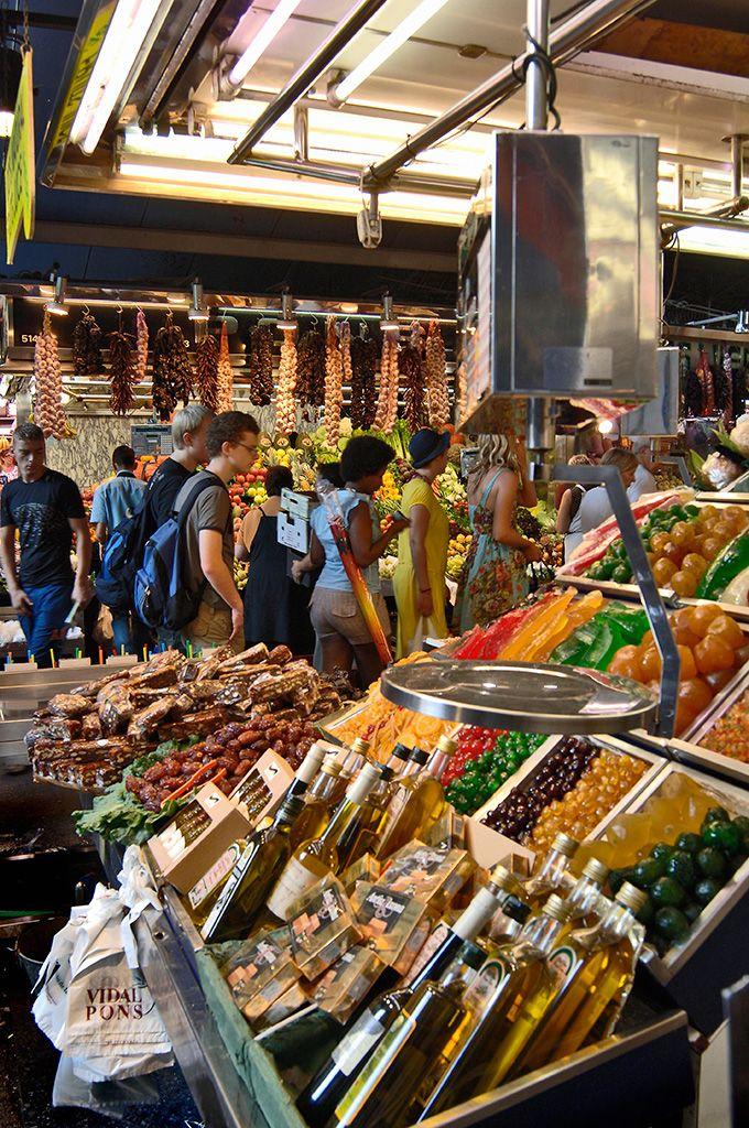 Mercado de La Boquería en Barcelona
