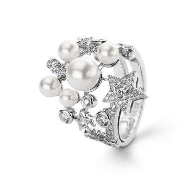 chanel pearl comete ring