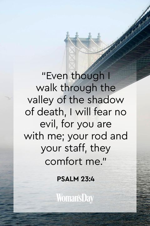 comforting bible verses -  Psalm 23:4