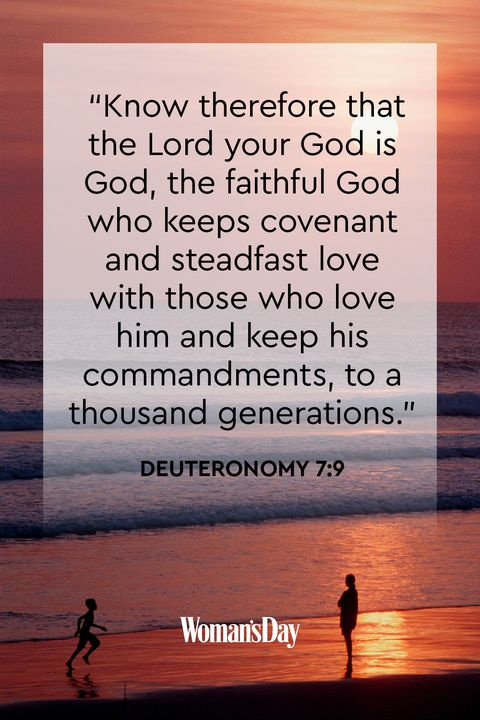 comforting bible verses - Deuteronomy 7:9