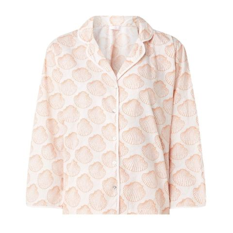 Clothing, White, Outerwear, Beige, Sleeve, Peach, Collar, Jacket, Blouse, Top,