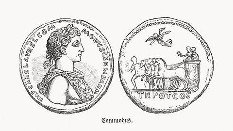 munt van keizer commodus