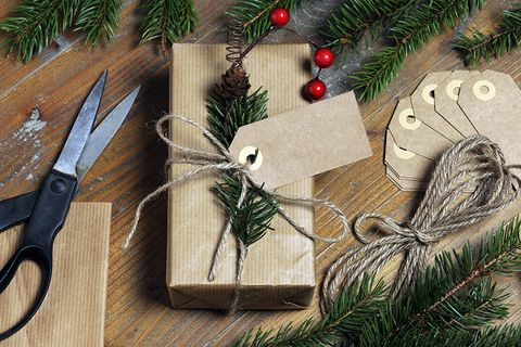 Tree, Branch, Fir, Twig, Christmas, Conifer, Pine family, Pine, Wood, Gift wrapping,