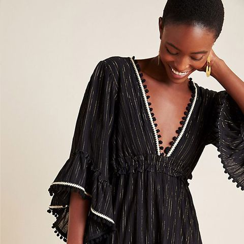Clothing, Dress, Black, Fashion model, Day dress, Fashion, Shoulder, Sleeve, Cocktail dress, Fashion design,