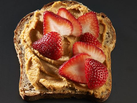 healthier peanut butter and strawberries
