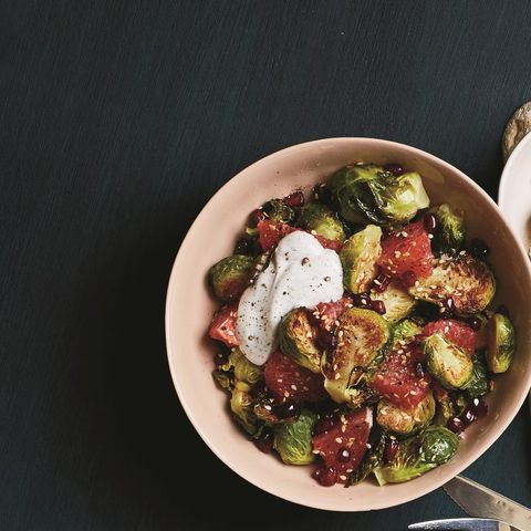 Savory Grapefruit And Roasted Brussels Sprouts