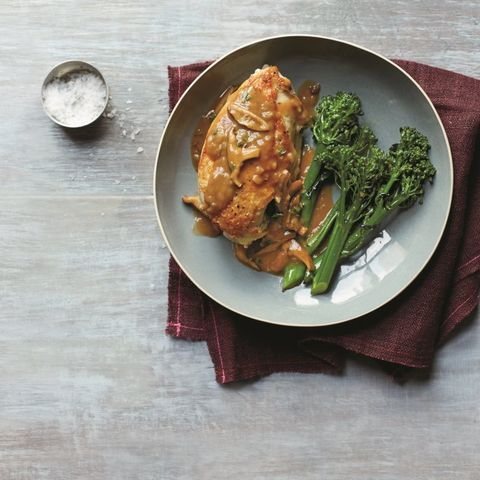 Pan-Roasted Chicken with Mushroom & Herb Gravy