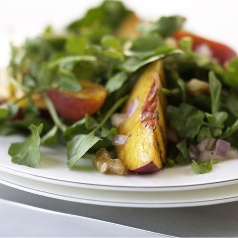 Grilled Nectarine and Watercress Salad