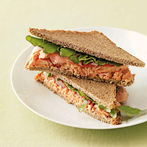 wasabi salmon sandwiches