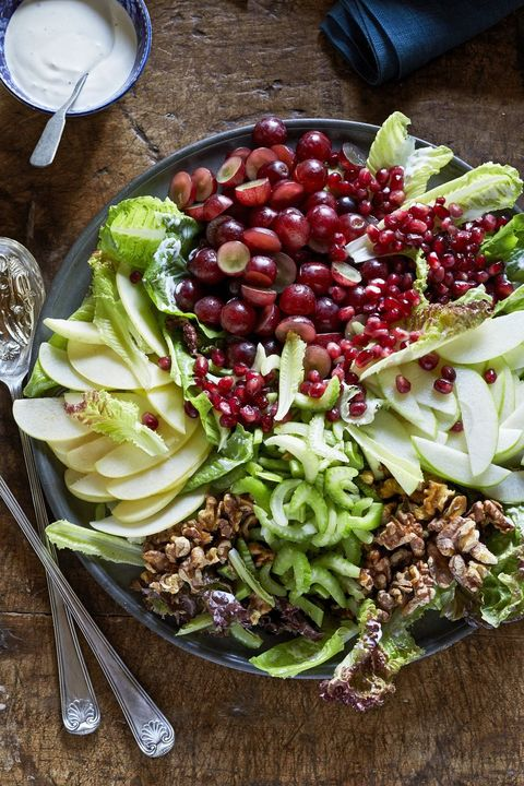 vegetarian thanksgiving side dish composed waldorf salad