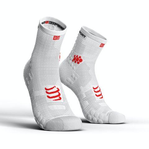 compressport pro racing socks v30 run high compressiesokken hardloopsokken sportsokken sokken dames heren unisex hardlopen