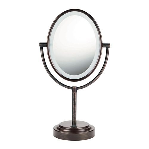 Conair Oval Double Sided Lighted Mirror