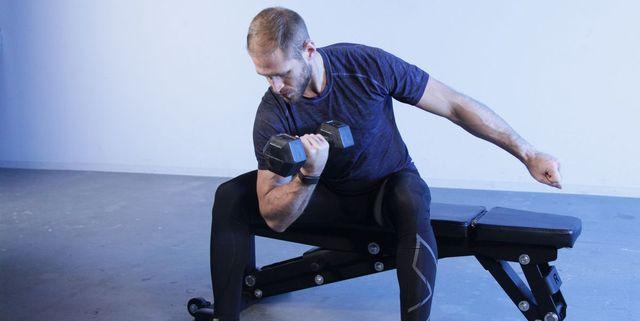 40歳からのトレーニング,コンセントレーション カール,やり方,上腕二頭筋,力こぶ,効果的,正しいフォーム,前腕,concentration curl,
