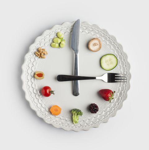 conceptual image of a food clock