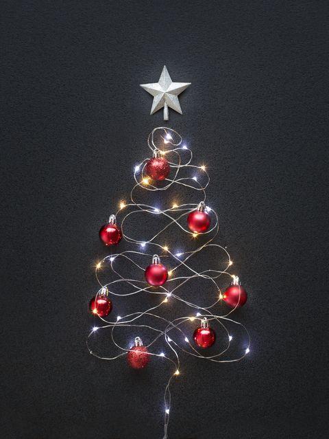 conceptual led christmas tree decoration still life