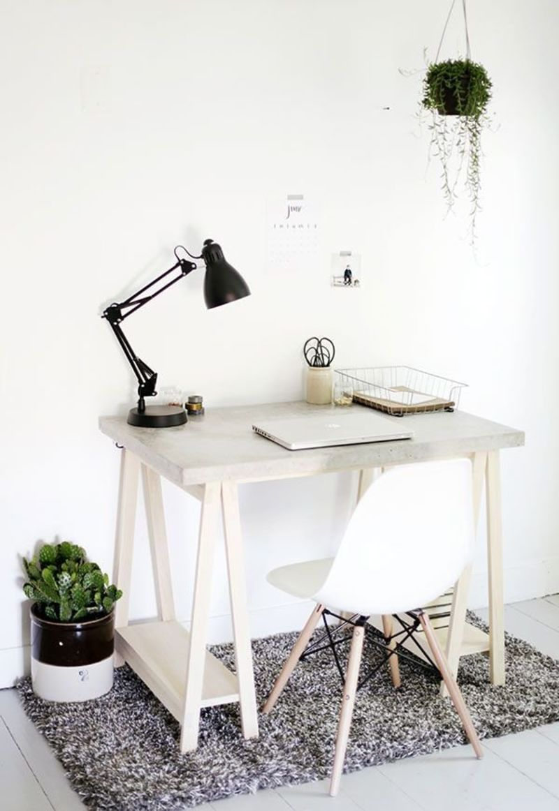 15 Diy Desk Plans For Your Home Office How To Make An Easy Desk