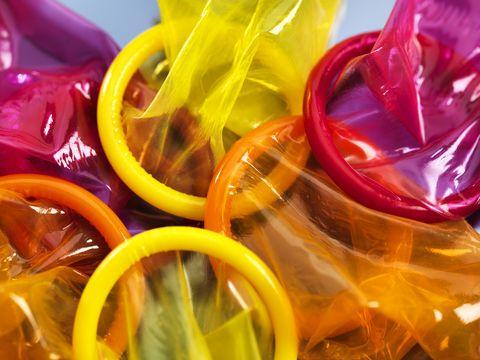 yellow, orange, plastic,