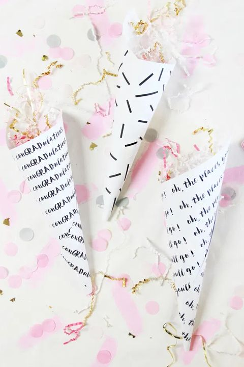 confetti cones graduation party ideas
