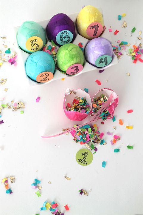 easter games for kids - confetti egg