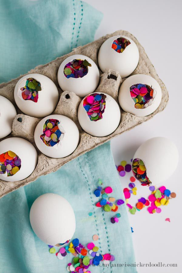 Confetti Eggs - Easter Egg Hunt Ideas