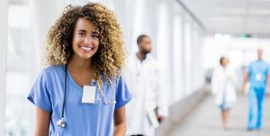 Confident young female healthcare professional