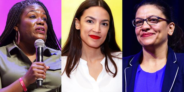 congresswoman elect cori bush, congresswoman alexandria ocasio cortez, and congresswoman rashida tlaib