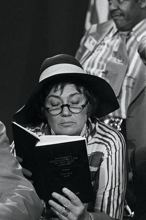 bella abzug reading a book