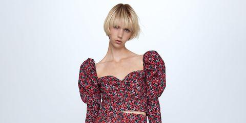 El conjunto floral de Zara.