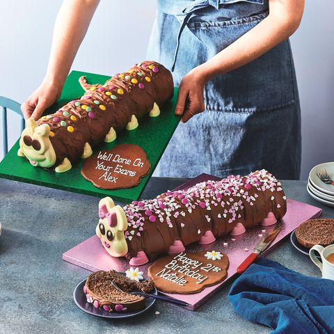 giant personalised colin the caterpillar cake