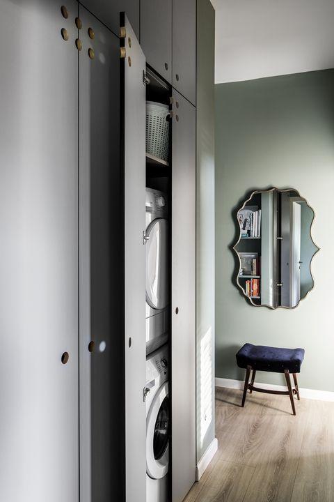 Consejos para crear un cuarto de lavado y plancha en casa. Apartamento Vered Bonfiglioli
