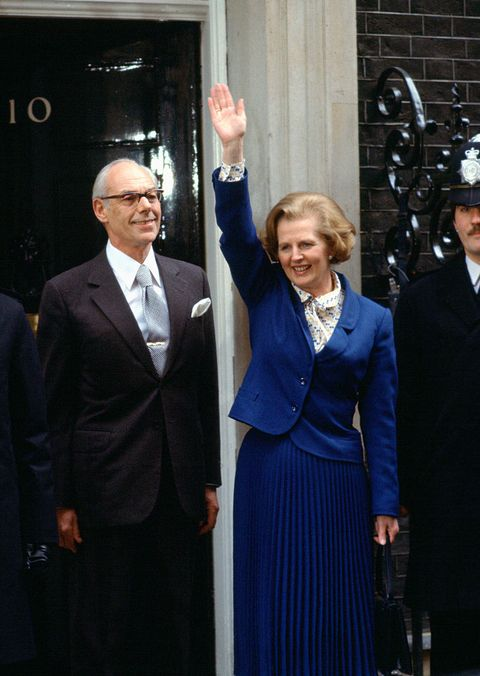 prime minister margaret thatcher arrives at downing st