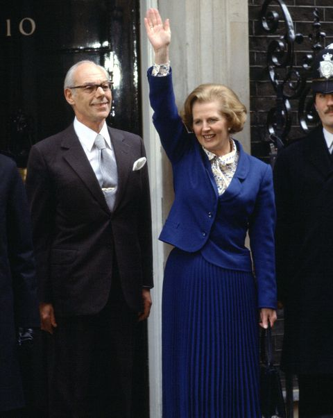 Margaret And Denis Thatcher Downing Street