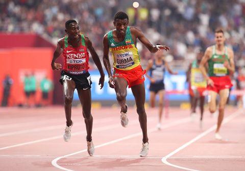 Kipruto,Girma, Carro, 3.000m obstáculos, Doha 2019