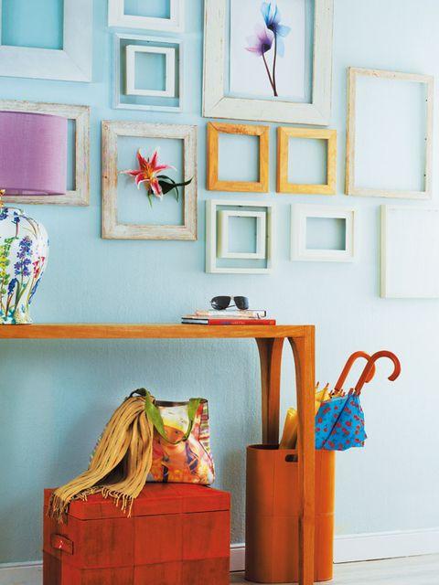 Shelf, Room, Furniture, Turquoise, Wall, Pink, Interior design, Living room, Floor, Table,