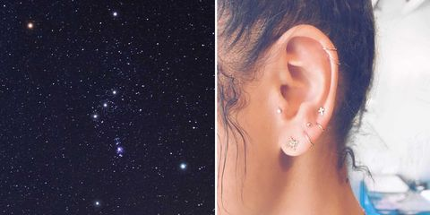 Constellation Ear Piercing Trend Cool Earring Ideas