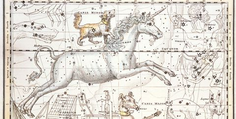 Constellations of Monoceros the Unicorn, Canis Major and Minor from A Celestial Atlas by Alexander Jamieson