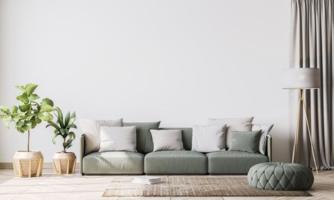 contemporary interior design for interior mock up in living room scandinavian home decor stock photo