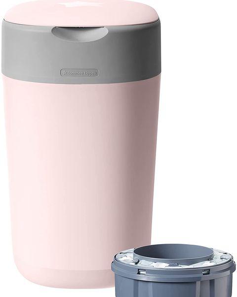 contenedor pañales bebe amazon rosa