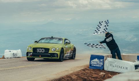 New Bentley Continental GT Breaks Production-Car Record at Pikes Peak