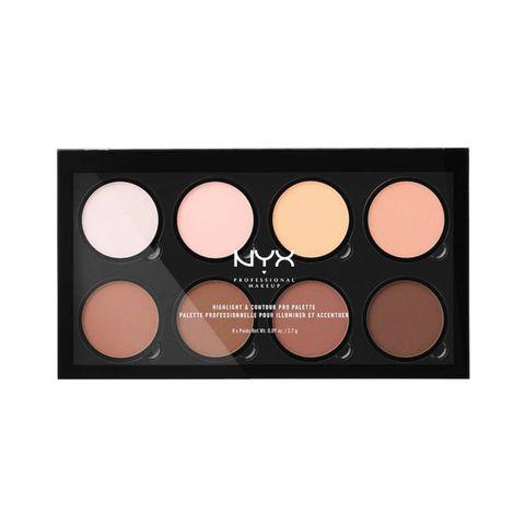 nyx highlight  contour pro palette contouring